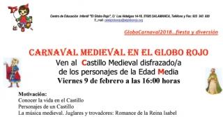 Te invitamos al Carnaval Medieval en El Globo Rojo