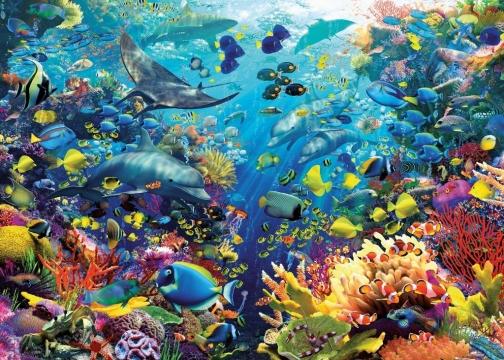 Puzzle 9000 piezas paraiso en el fondo del mar puzzles y - Fotos fondo del mar ...
