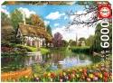 Puzzle 6000 piezas Primavera en el lago