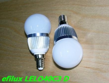 LAMPARA ESFERICA LED LEL040C3 Difusa