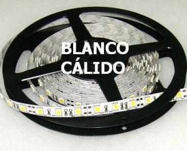 TIRA TUBO DE SILICONA LED 5m 72w Blanco Cálido