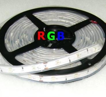 TIRA TUBO DE SILICONA LED 5m 36W Color Program.RGB