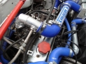 Turbo silicone/aluminum boost intercooler hose kit...