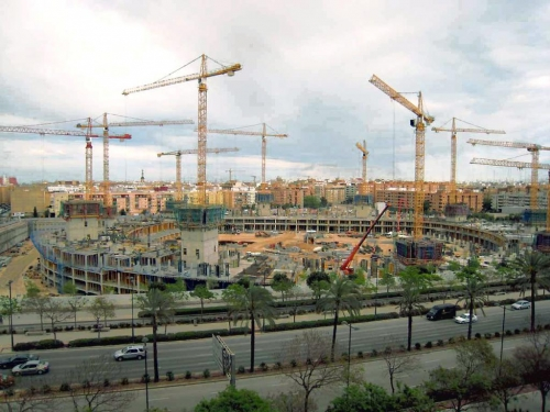 Nuevo Estadio VCF. Avda. Cortes Valencianas. Valencia