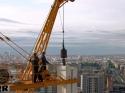 Montaje Hotel Hilton a 140m altura