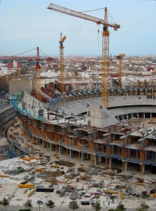 Nuevo Estadio del Valencia Futbol Club. Avenida de Cortes Valencianas, Valencia