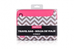 Bolsa Travel Rosa-Gris Switch