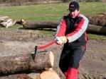 Gancho recoge troncos
