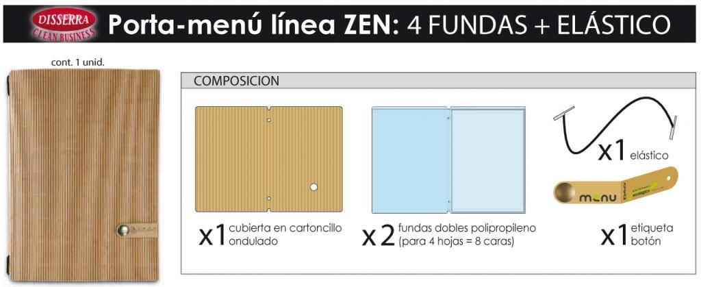 porta-menú ecológico diseño ZEN
