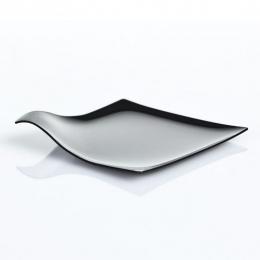 Platito cuadrado degustacíon tapas y bocados serie ÁRTICA ELEGANCE color negro