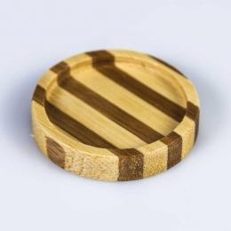 Plato redondo bambú formato mini serie NIPÓN presentación degustaciones eventos y fiestas catering service