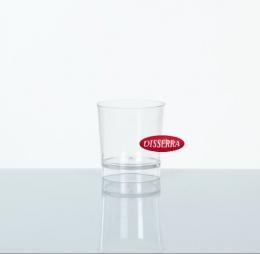 Vaso CHUPITO Transparente de plástico duro para fiestas y eventos en catering y hostelería