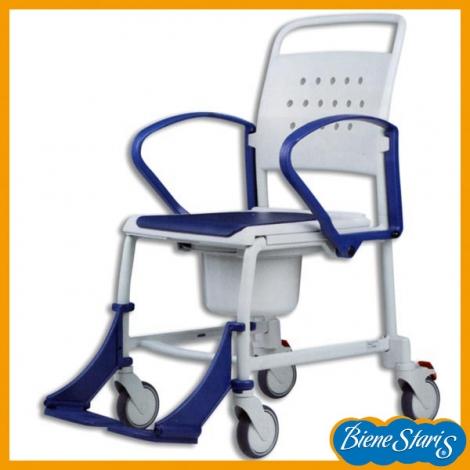 Silla de ruedas para ducha e inodoro bienestaris - Ruedas de sillas ...