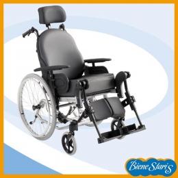 Silla de ruedas de respaldo abatible y asiento basculante rueda 600