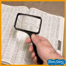 Lupa rectangular con mango para lectura