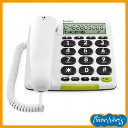 Teléfono de teclas grandes con pantalla para personas mayores
