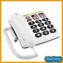 Teléfono de teclas grandes para personas mayores con fotos