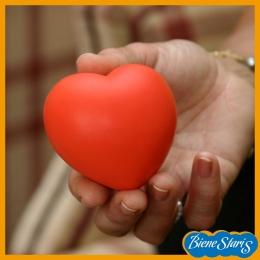 pelota de rehabilitación con forma de corazón