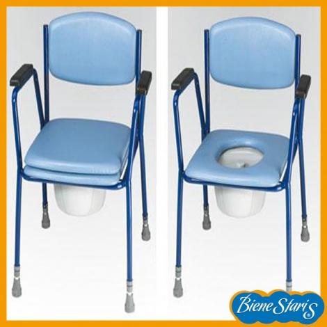 Silla con inodoro para el dormitorio ortopedia salud for Sillas para inodoros