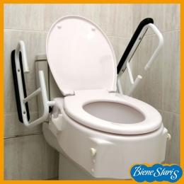 asiento de inodoro, elevador inodoro, elevador wc, con brazos asientos de inodoro, elevador, inodoro de baño, alza inodoro, regulable