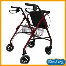 Andador para mayores muy ligero, con asiento y frenos.