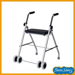 Andador para ancianos con asiento muy ligero y fácil de llevar