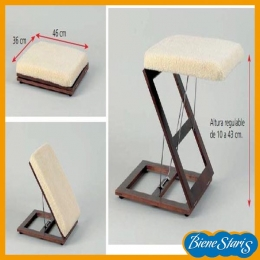Reposapies plegable para confort de piernas