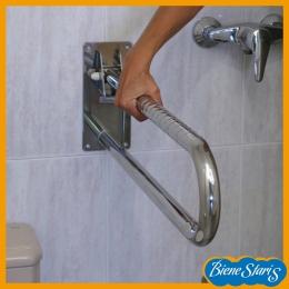 barra para baño abatible acero inoxidable
