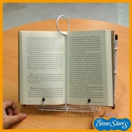 Atril para leer con sujeta páginas