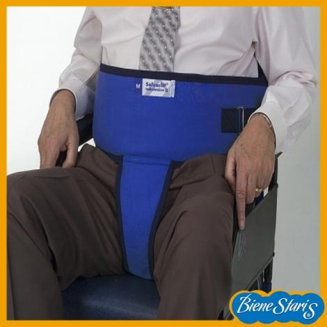Cinturón para silla de ruedas con perineal