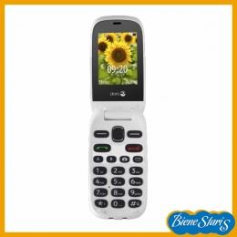 teléfono móvil con letras grandes