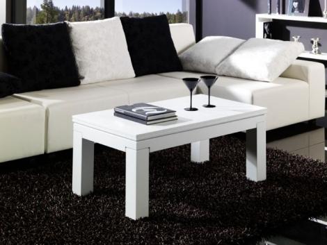 Mesa de centro convertible en mesa comedor rustika - Mesa centro convertible en mesa comedor ...