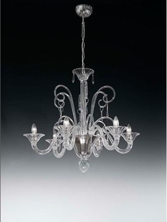 Lampara de techo cristal 6 brazos rustika decoraci n madrid - Decoracion lamparas de techo ...