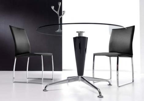 Mesa comedor redonda cristal rustika decoraci n madrid - Rustika decoracion ...