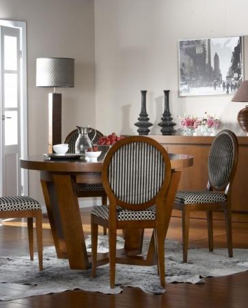 Mesa de comedor redonda extensible   rustika decoración madrid