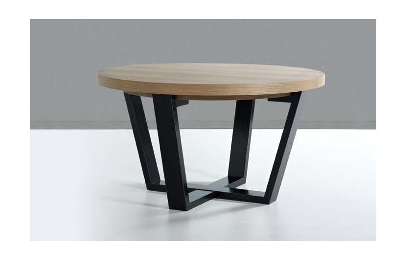 Mesa de comedor redonda extensible rustika decoraci n madrid - Mesa comedor extensible redonda ...