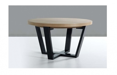 Mesa de comedor redonda extensible rustika decoraci n madrid - Mesa redonda de comedor extensible ...