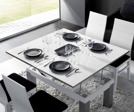Mesa de centro convertible en mesa comedor rustika - Mesa de centro convertible en mesa de comedor ...