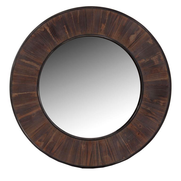 Espejo redondo madera rustika decoraci n madrid for Espejos de madera redondos