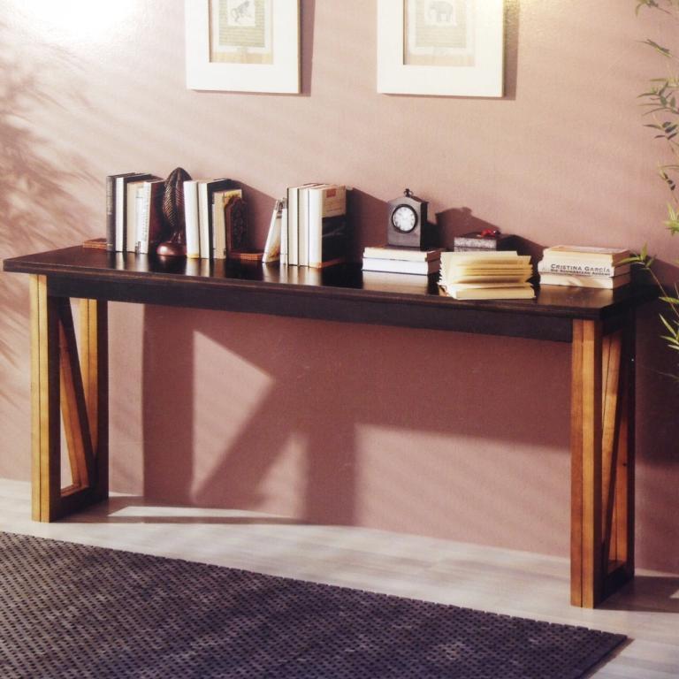 Mesa de comedor consola plegable rustika decoraci n madrid for Mesa consola ikea