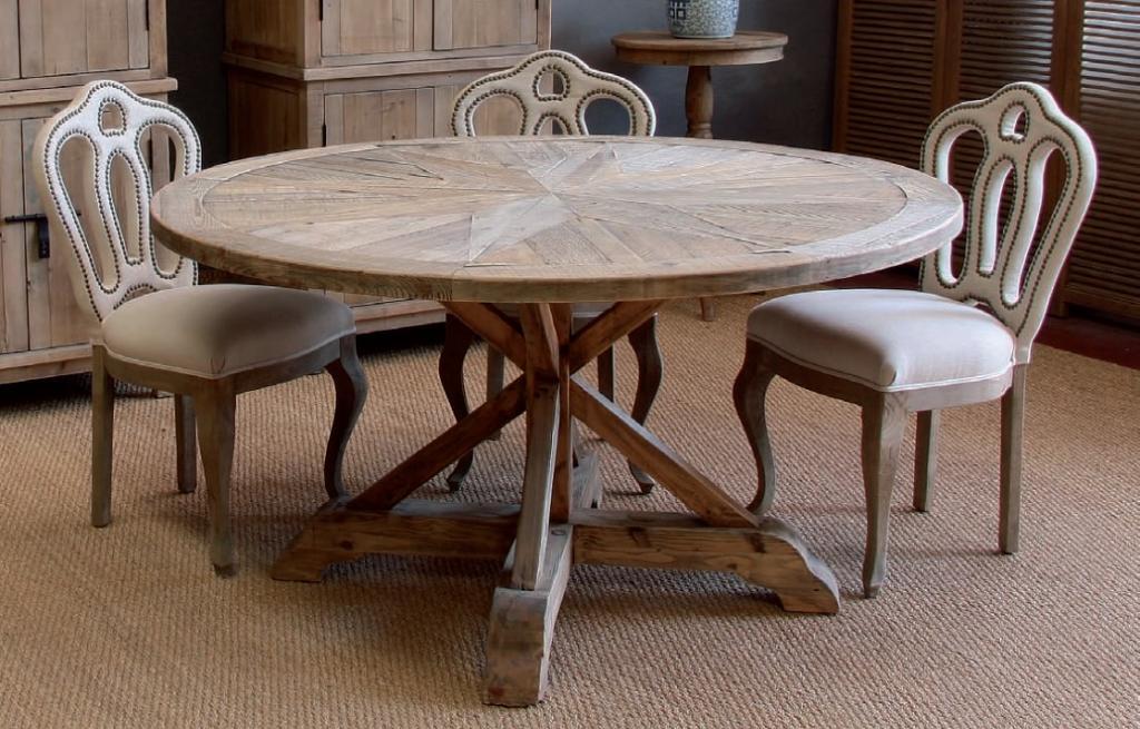 mesa de comedor redonda pie central ampliar imagen