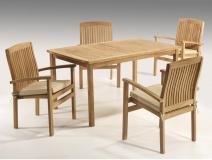 Mesas y sillas para jardin y terraza rusticos