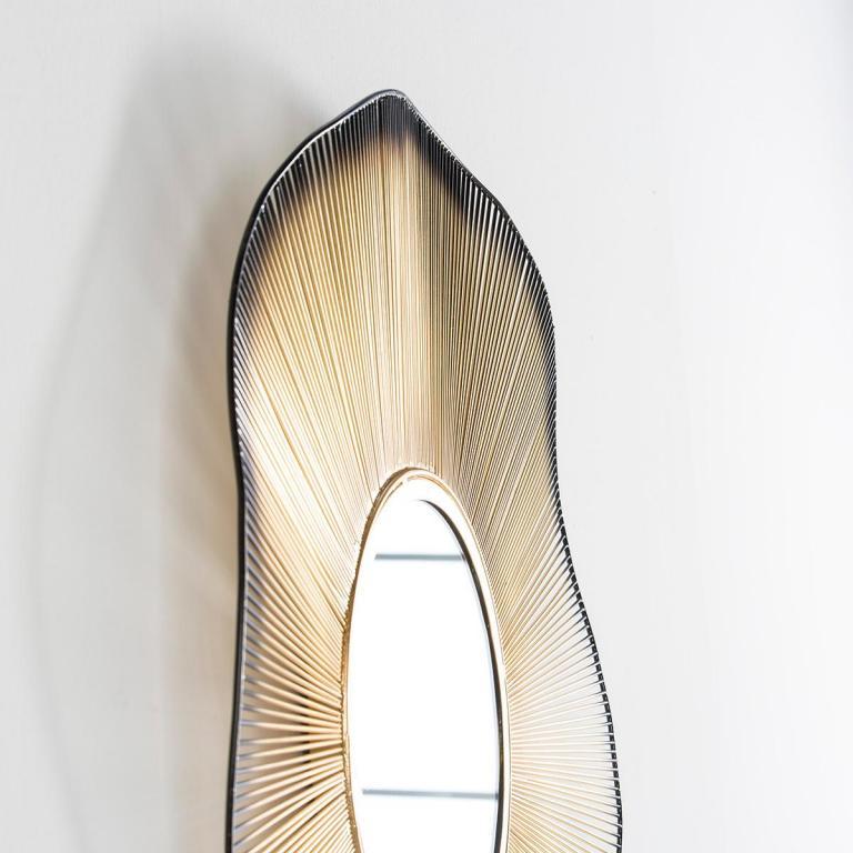 Espejo dorado negro rustika decoraci n madrid - Rustika decoracion ...