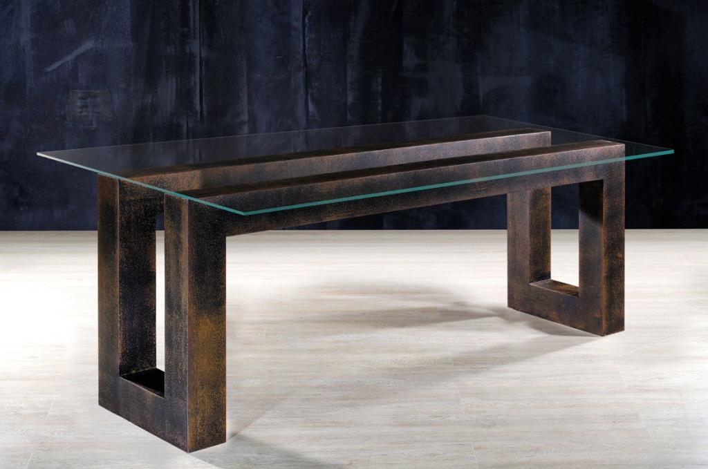 Base para mesa comedor en forja rustika decoraci n madrid - Sillas de forja para comedor ...