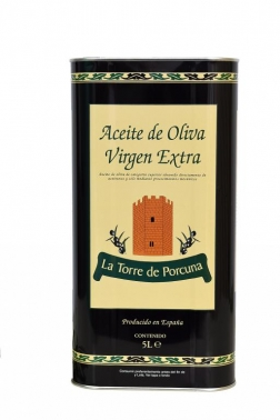 "EXTRA VIRGIN OLIVE OIL 5 LITER  ""Tin cans"""