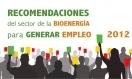 Recomendaciones del sector de la bioenergía para crear empleo