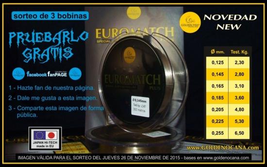 Sorteo EUROMATCH PLUS - Facebook 26-11-2015