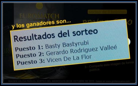 Sorteo EUROMATCH PLUS - Facebook 28-10-2015