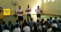Visita de Walter Samuel Tavares y Eulis Báez jugadores del Herbalife Gran Canaria