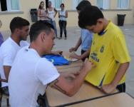 Roque y Asdrubal, jugadores de la UD Las Palmas, visitan Las Nieves